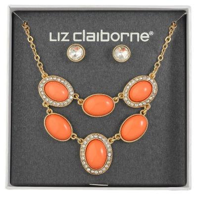 Liz Claiborne Womens 1 Pair Orange Jewelry Set