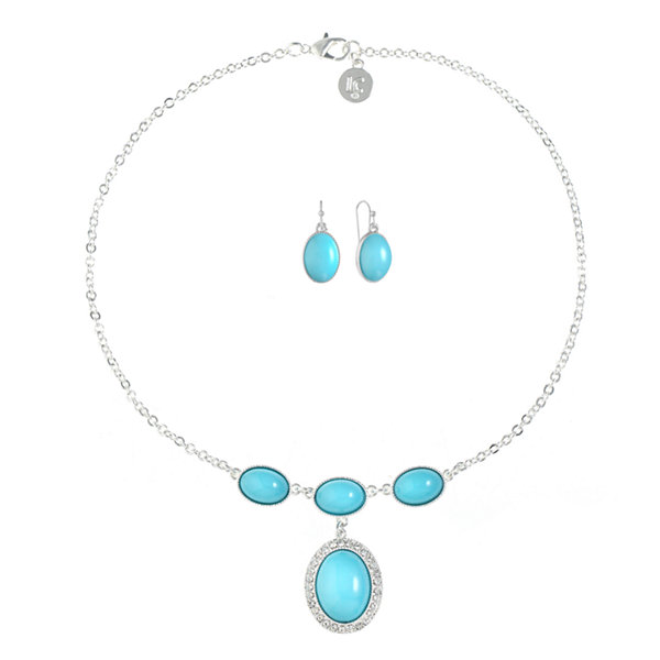 Liz Claiborne Womens 1 Pair Blue Jewelry Set