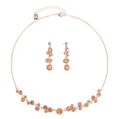 Monet Jewelry Pink Rose Tone 2-pc. Jewelry Set