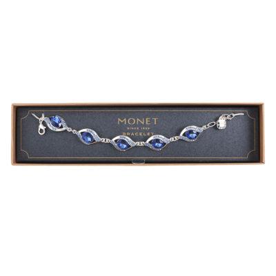 Monet Jewelry Silver Tone Link Bracelet