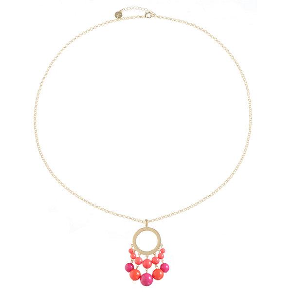 Liz Claiborne Liz Claiborne Womens Red Pendant Necklace gxhdJh