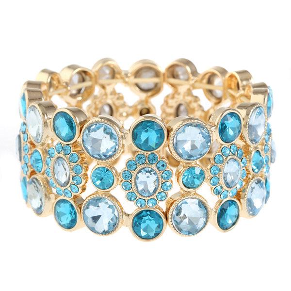 Monet Jewelry Monet Jewelry Womens Clear Stretch Bracelet Pywhj