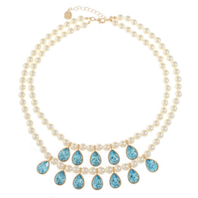Monet Jewelry Womens Simulated Pearl Strand Necklace