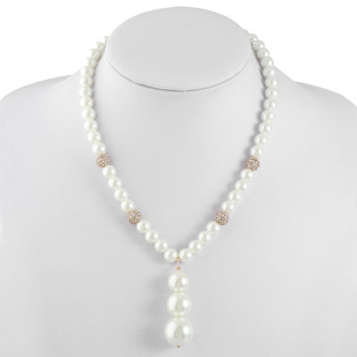 Monet Jewelry Womens Simulated Pearl Y Necklace