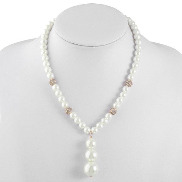 Monet Jewelry Monet Jewelry Womens White Y Necklace 4M6cUAj9