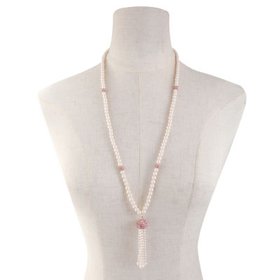 Monet Jewelry Womens Simulated Pearls Pendant Necklace