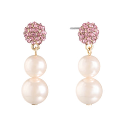 Monet Jewelry SIMULATED PEARLS Drop Earrings