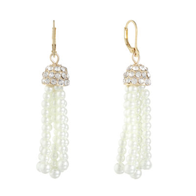 Monet Jewelry SIMULATED PEARLS Drop Earrings
