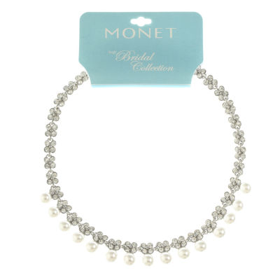 Monet Jewelry Womens Simulated Pearl Collar Necklace