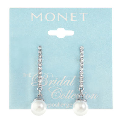 Monet Jewelry Simulated Pearl Drop Earrings