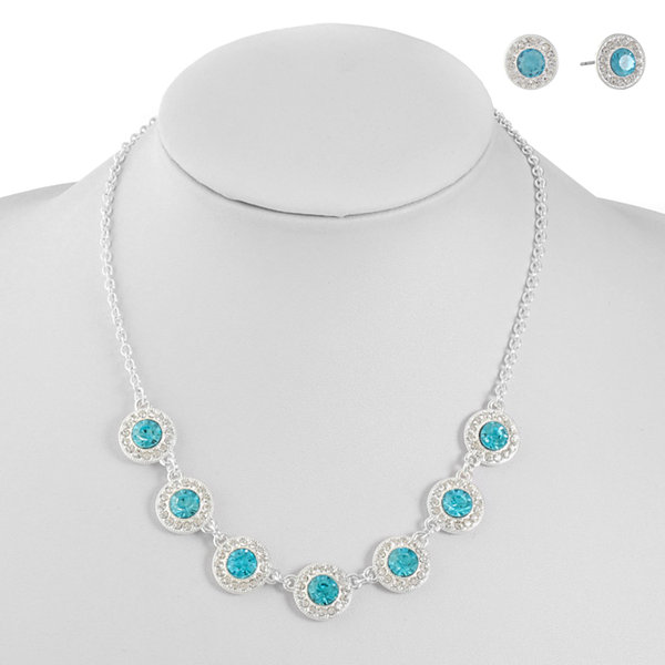 Monet Jewelry Monet Jewelry Womens 2-pc. Blue Jewelry Set N5DuH