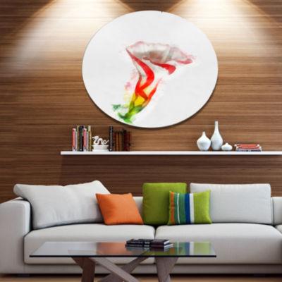 Designart Colorful Bell Flower Sketch WatercolorLarge Floral Metal Artwork