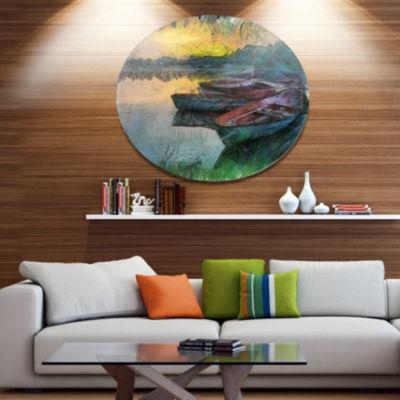 Designart Scenic + Landscape Metal Wall Art