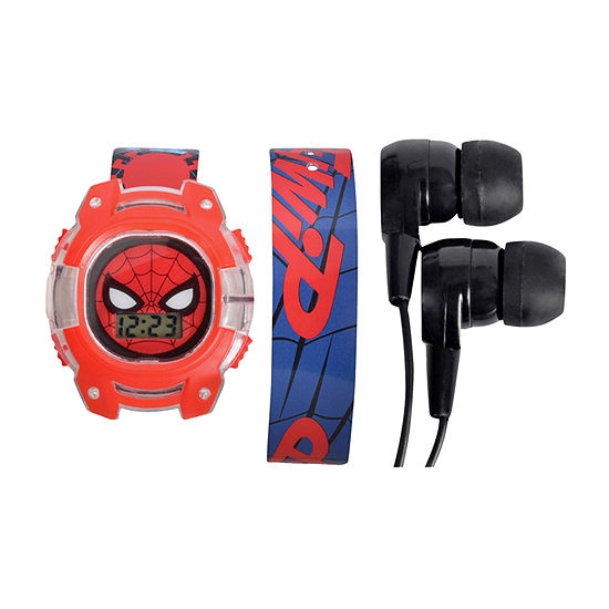 Marvel Spiderman Boys Multicolor Watch Boxed Set-Spd40007jc