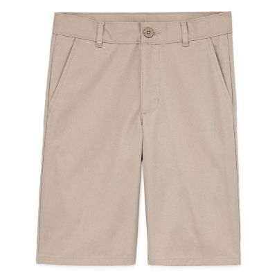 Izod Exclusive Boys Stretch Adjustable Waist Chino Short Preschool / Big Kid