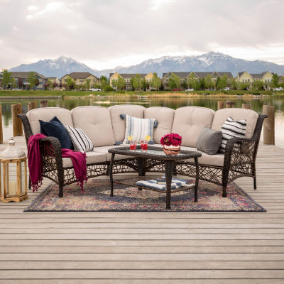 Random Weave 4-pc. Patio Sectional with Cushions
