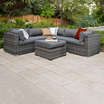 Multi-Shade Rattan 4-pc. Patio Sectional with Cushions