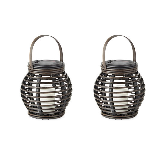 Outdoor Oasis Small Wicker Outdoor Lantern