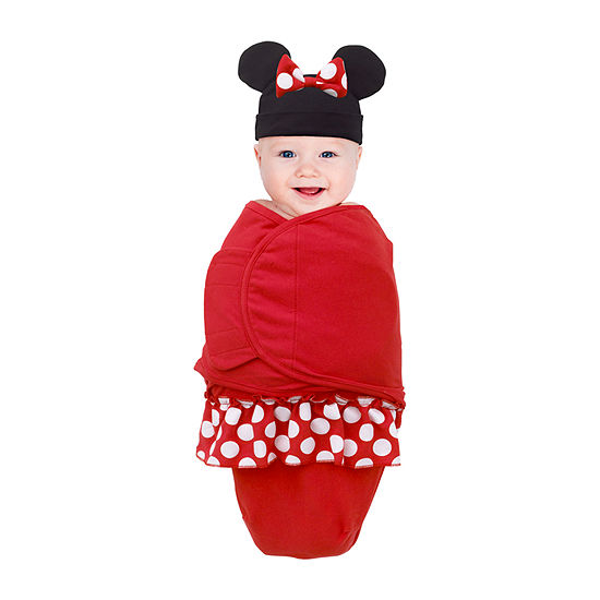 Disney Mickey And Minnie Exploration Minnie Mouse Swaddle Blanket