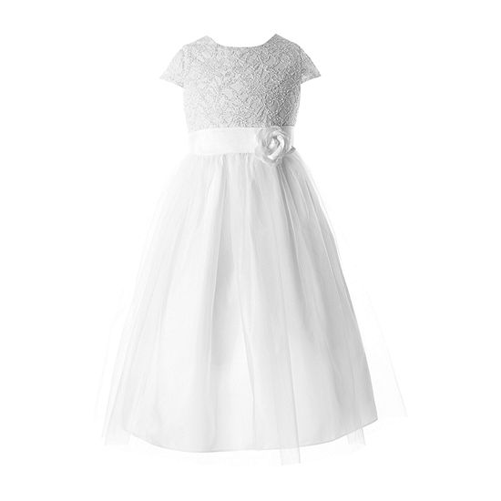 Keepsake First Communion Girls Sleeveless Cap Sleeve Fit & Flare Dress - Big Kid