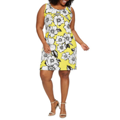 Ronni Nicole Sleeveless Floral A-Line Dress-Plus
