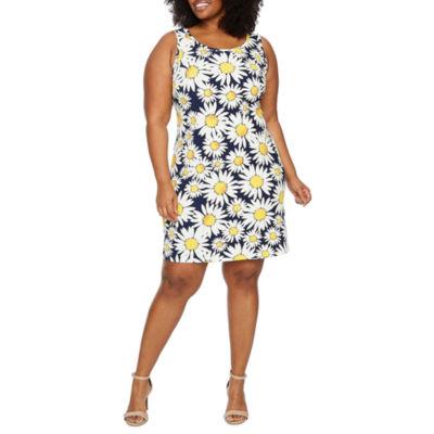 Ronni Nicole Sleeveless Floral A-Line Dress-Plus