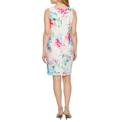 Studio 1 Sleeveless Floral Lace Sheath Dress-Petite
