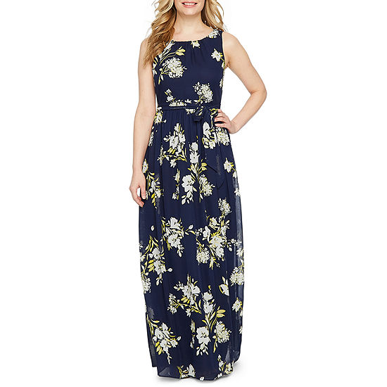 ac7a7476a7db Jessica Howard Sleeveless Floral Maxi Dress-Petite - JCPenney