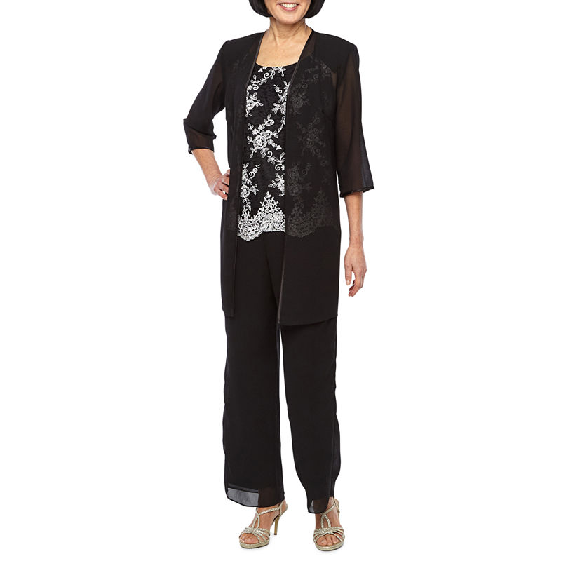 Vintage High Waisted Trousers, Sailor Pants, Jeans Maya Brooke 3-pc. Pant Set Womens Size 10 Black $20.98 AT vintagedancer.com