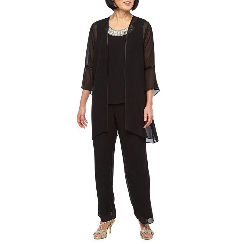 Vintage High Waisted Trousers, Sailor Pants, Jeans Maya Brooke 3-pc. Pant Set Womens Size 8 Black $20.98 AT vintagedancer.com