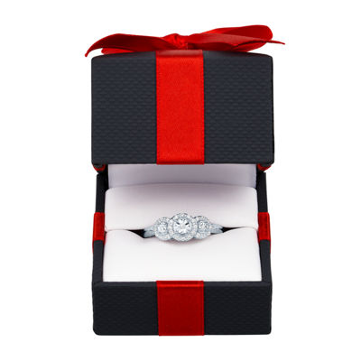 LIMITED TIME SPECIAL! 1/10 CT. T.W.  Diamond Ring in Sterling Silver