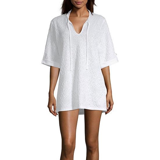 Porto Cruz Jacquard Swimsuit Cover-Up Dress