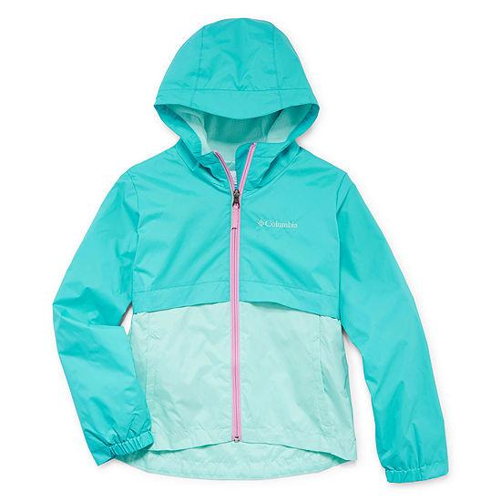 Columbia Sportswear Co. Water Resistant Lightweight Jacket Preschool / Big Kid Girls