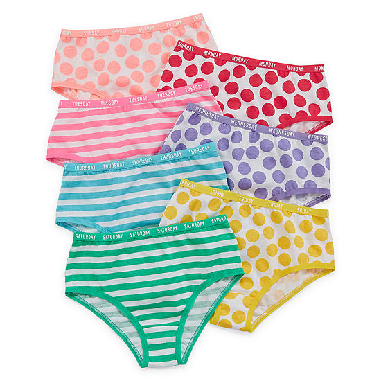 Okie Dokie 7 Pair Brief Panty Toddler Girls