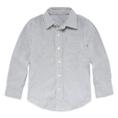 Peyton & Parker Boys Long Sleeve Button-Front Shirt Toddler