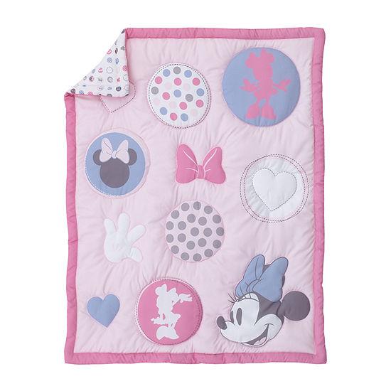 Disney 3 Pc Minnie Mouse Crib Bedding Set