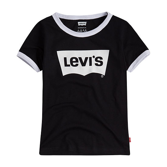 Levi's Retro Ringer Tee Girls Round Neck Short Sleeve Graphic T-Shirt - Preschool