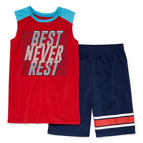 Arizona Boys 2-pc. Shorts Pajama Set Preschool / Big Kid