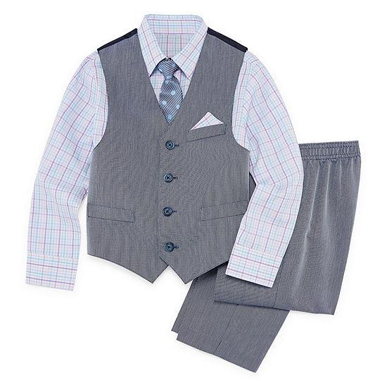 Van Heusen 4 Pc Suit Set Preschool Big Kid Boys