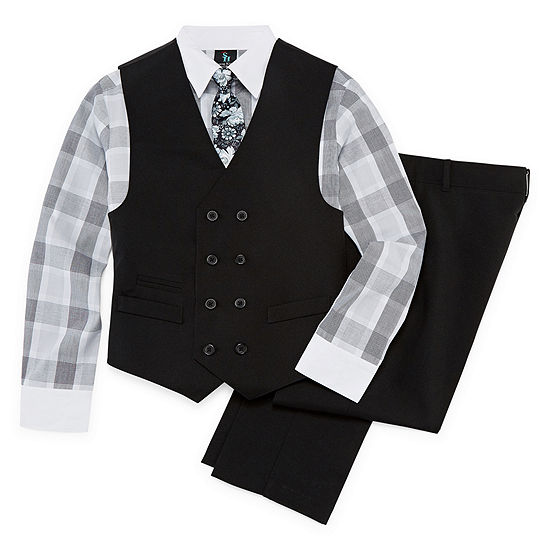 Steve Harvey 4 Pc Suit Set Preschool Big Kid Boys