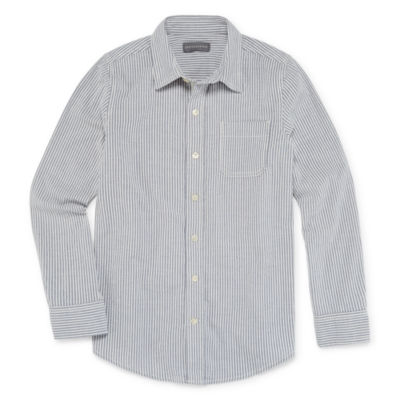 Peyton & Parker Little & Big Boys Long Sleeve Button-Down Shirt