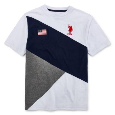 U.S. Polo Assn. Boys Crew Neck Short Sleeve Embroidered T-Shirt Preschool / Big Kid
