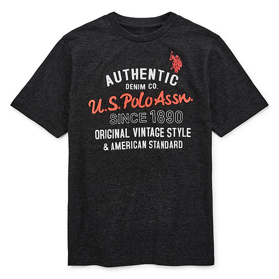 Us Polo Assn Boys Short Sleeve Applique Embroidered Henley Shirt Preschool Big Kid