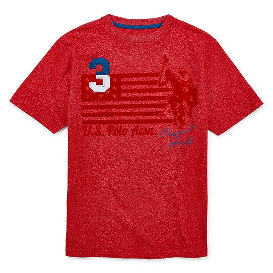 U.S. Polo Assn. Boys Crew Neck Short Sleeve Applique T-Shirt Preschool / Big Kid