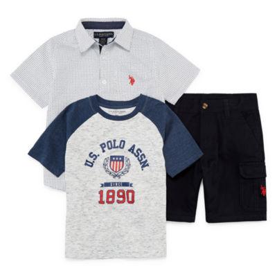 U.S. Polo Assn. 3-pc. Short Set Boys