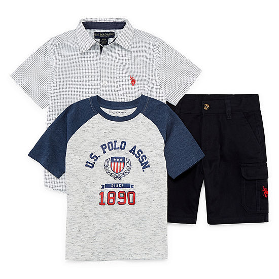 U.S. Polo Assn. Boys 3-pc. Short Set
