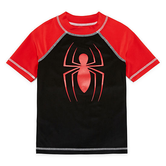 Boys Spiderman Rash Guard Preschool