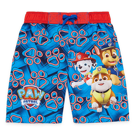 Boys Paw Patrol Swim Trunks-Preschool