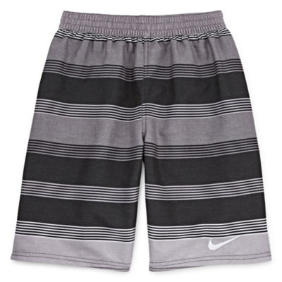 Nike Boys Striped Swim Trunks