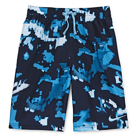 Nike Boys Abstract Swim Trunks-Big Kid